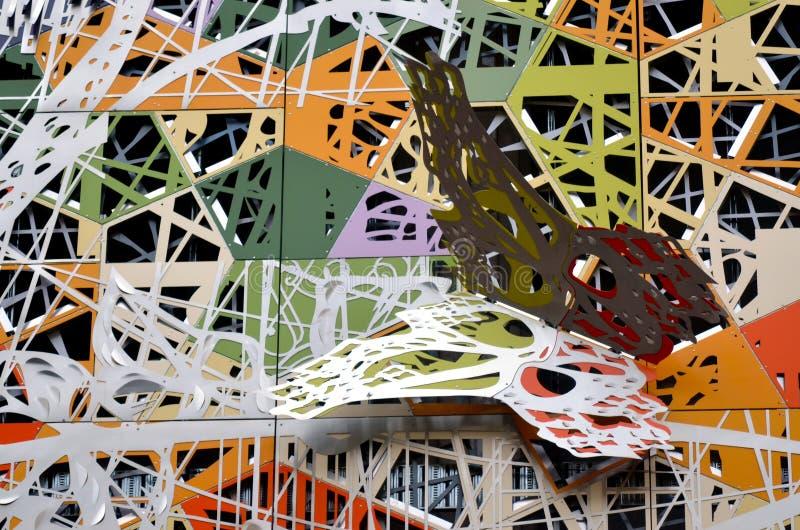 Façade de papillon - complexe de magasins de jardin d'hiver de Brisbane image libre de droits