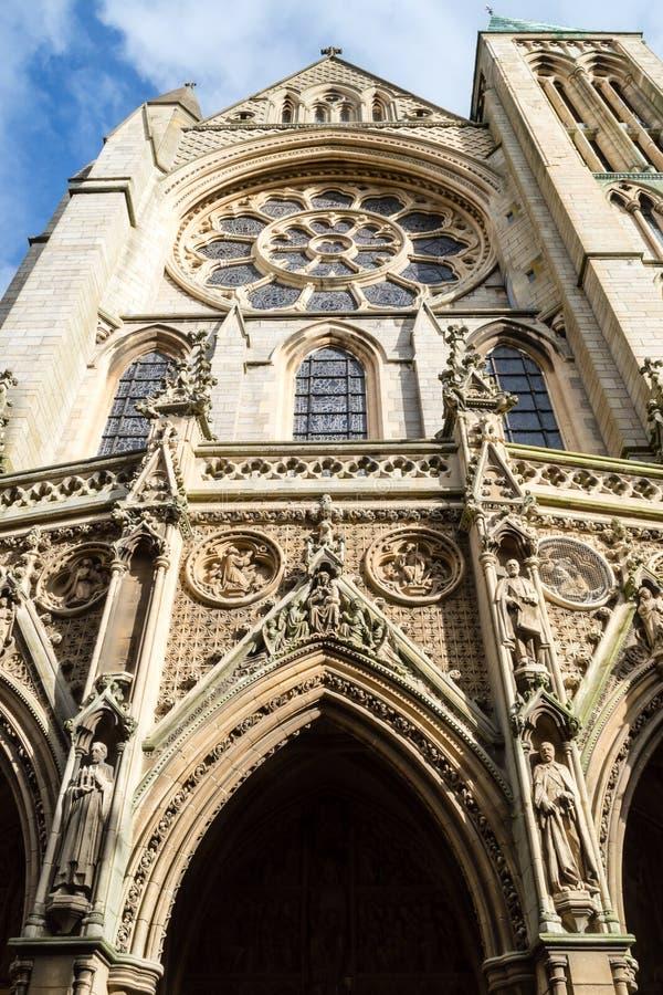 Façade de sud de cathédrale de Truro photo stock