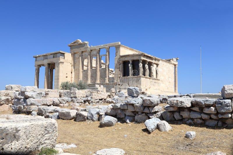 Façade de temple antique d'Erechtheum photo libre de droits