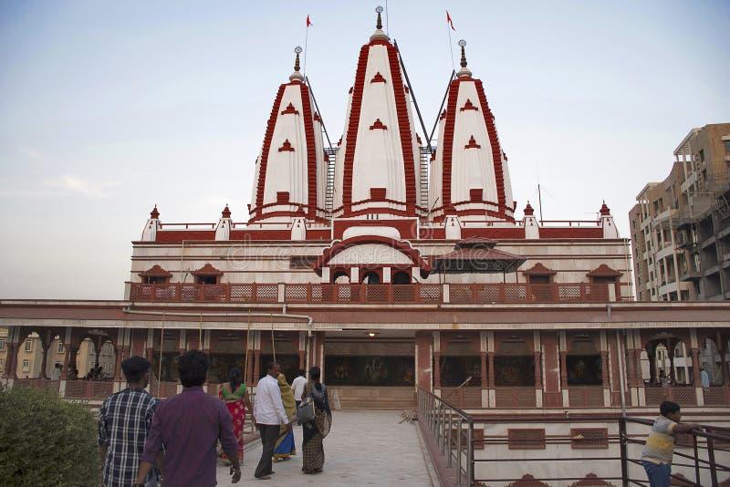 Façade de temple d'ISKCON, Pune images libres de droits