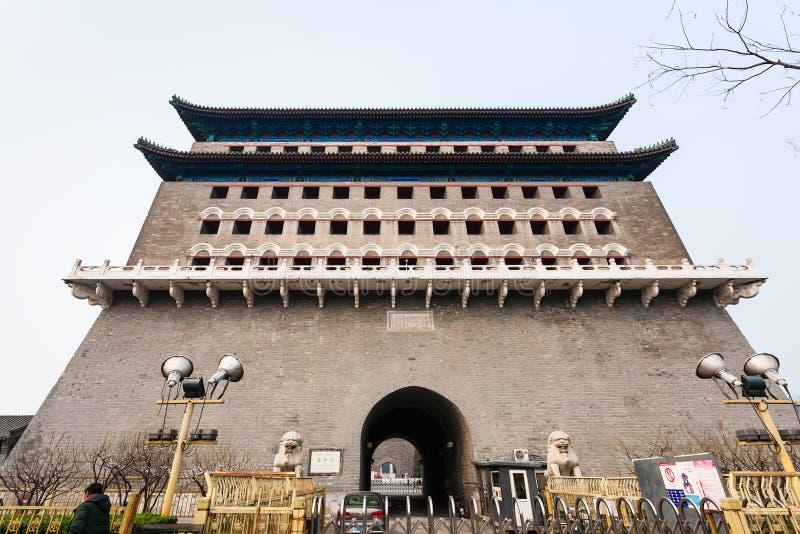Façade de tour Jian Lou de flèche dans Pékin photos stock
