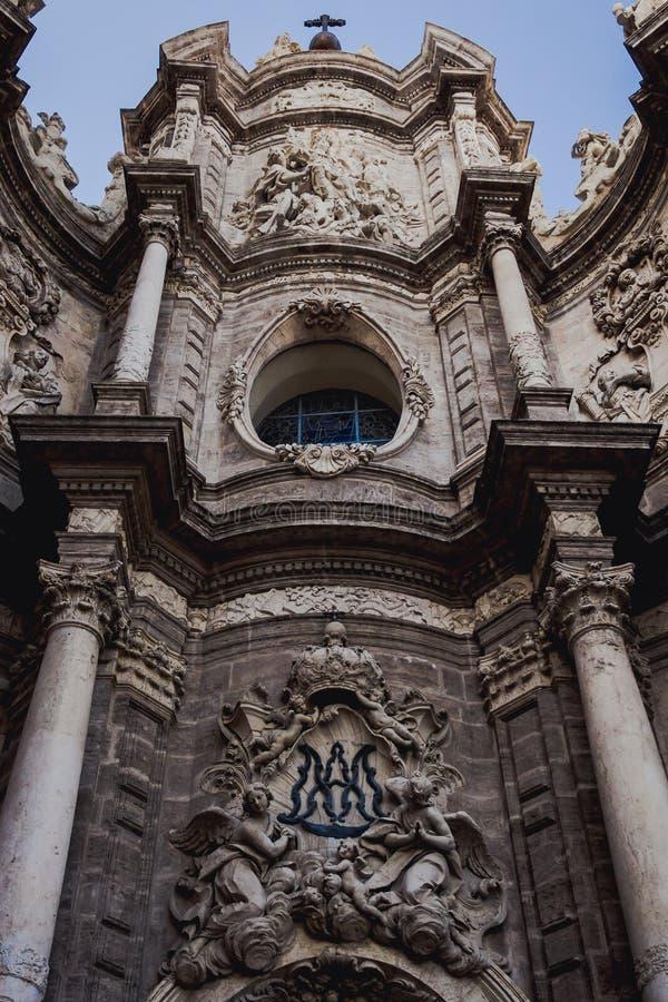 Façade de Valence, Espagne d'église de cathédrale photo libre de droits