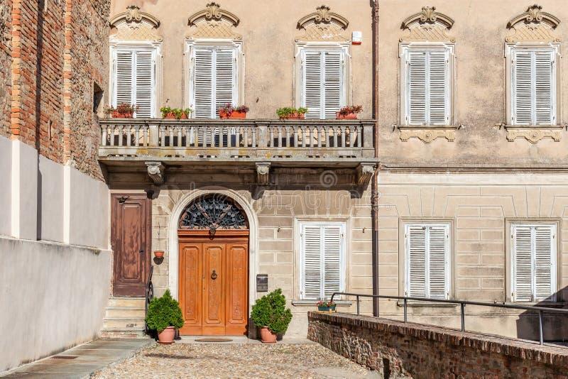 Façade de vieille maison italienne images libres de droits