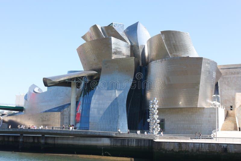 Museo de Guggenheim, Bilbao en España fotografía de archivo