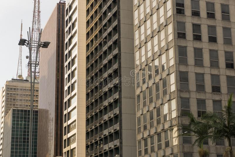 Façade des bâtiments commerciaux images stock