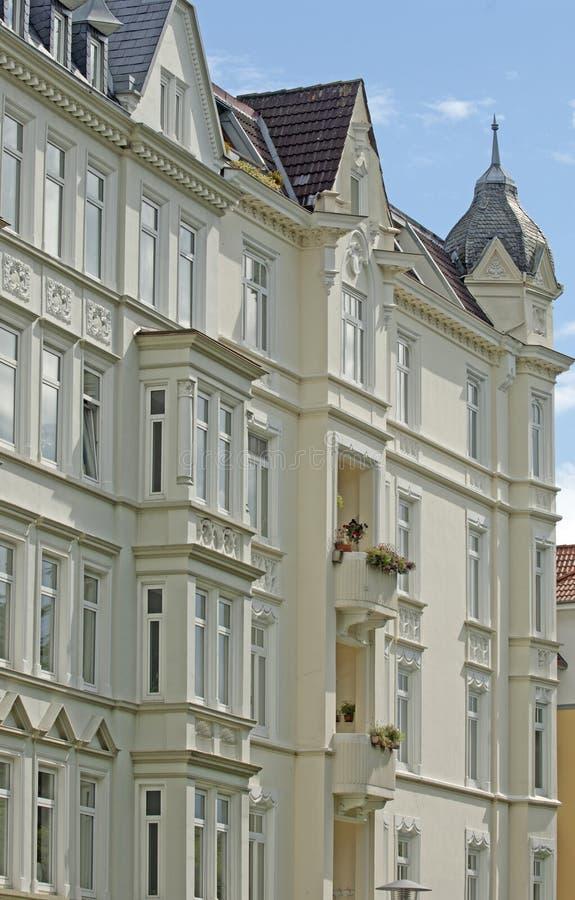 Façade des constructions à Kiel, photographie stock libre de droits