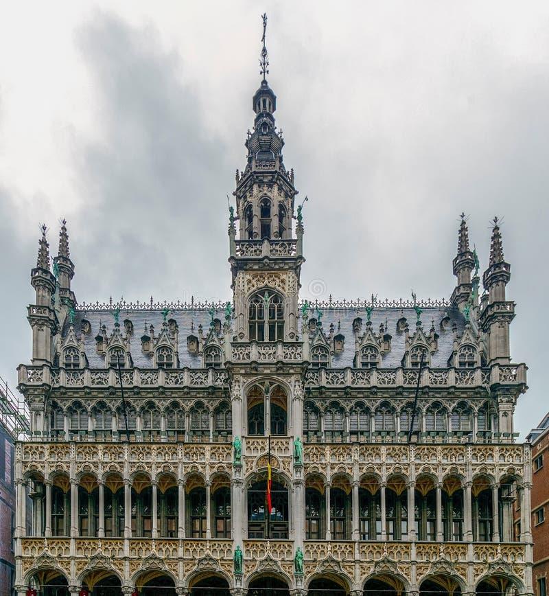 Façade des Rois House, Bruxelles, Belgique images libres de droits
