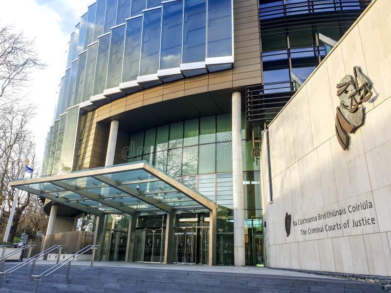 Façade des Tribunaux Pénaux de la justice - Dublin photographie stock libre de droits