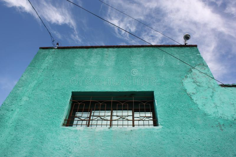 Façade du bâtiment mexicain photos libres de droits