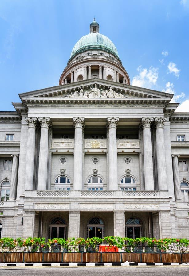 Façade du National Gallery, Singapour images libres de droits