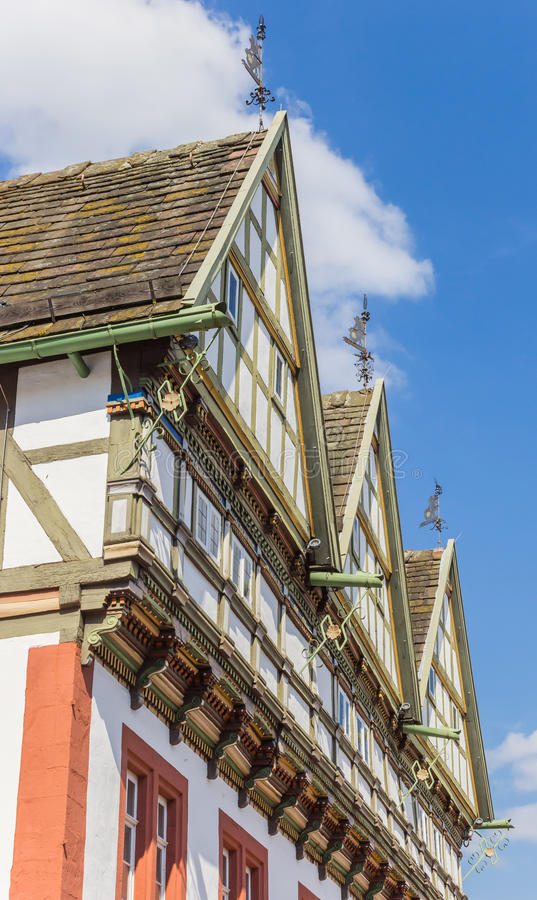 Façade du vieil hôtel de ville en Blomberg photo stock