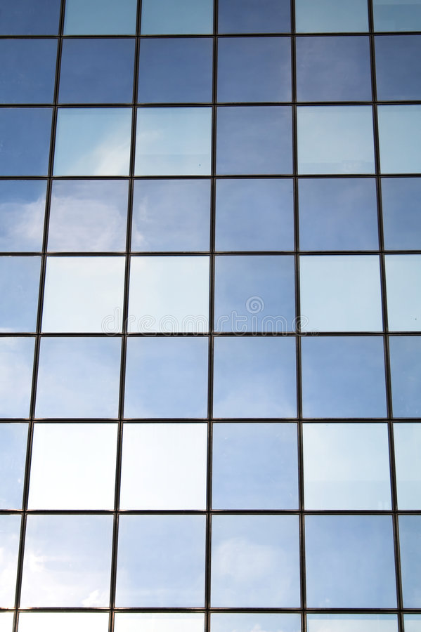 Façade en verre photos libres de droits