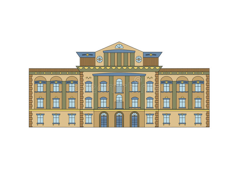 Download Façade Historique De Construction Illustration de Vecteur - Illustration du ville, maison: 56475184
