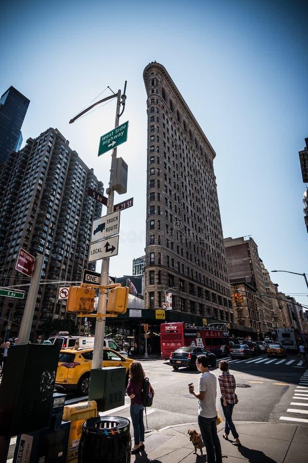 Façade plate New York de bâtiment de fer photographie stock libre de droits