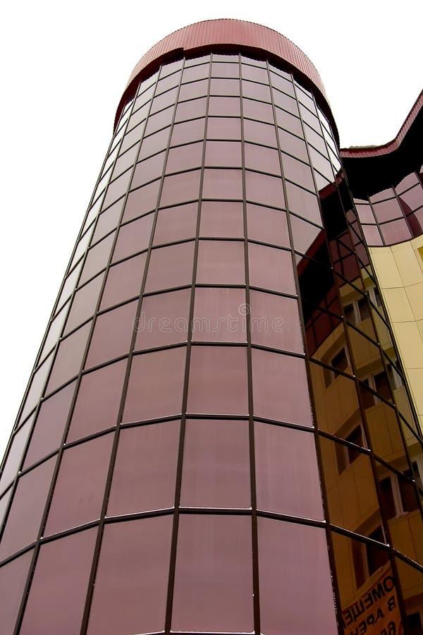 Façade ronde de l'immeuble de bureaux photo stock