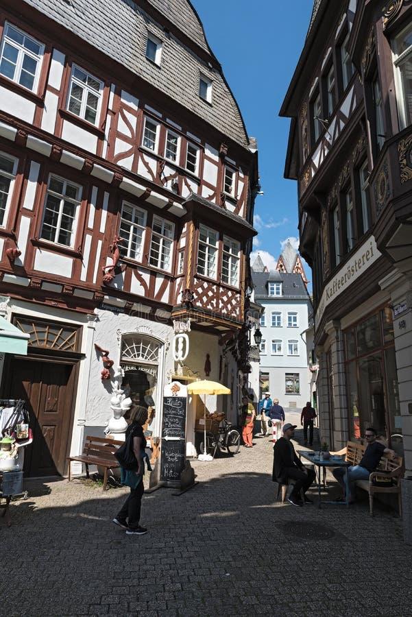 Façades à colombage de la vieille ville de Limbourg un lahn Allemagne de der photographie stock libre de droits
