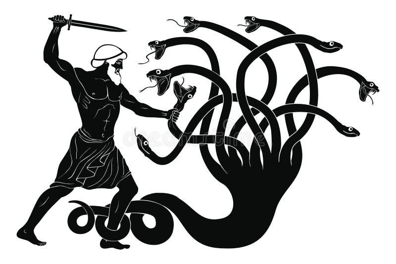 12 façanhas de Hercules ilustração stock