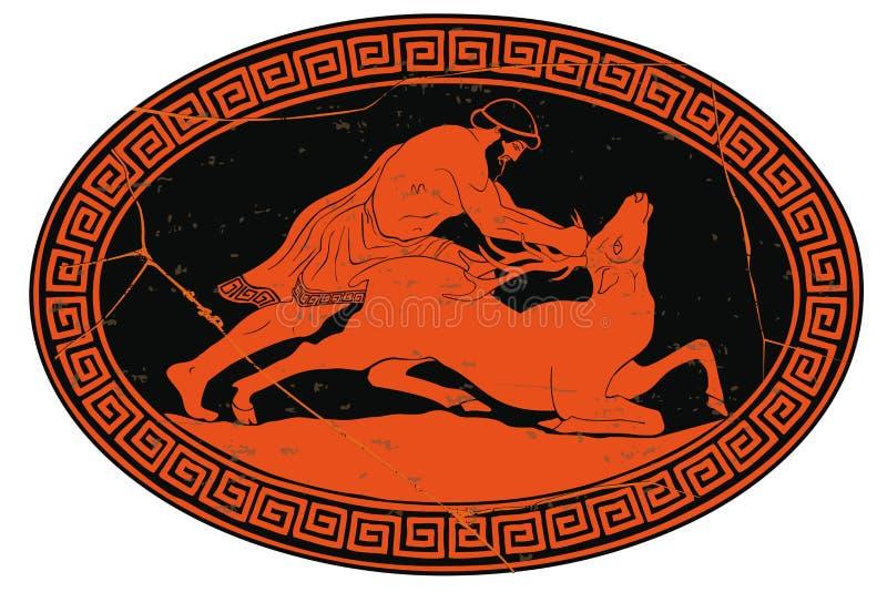12 façanhas de Hercules ilustração royalty free