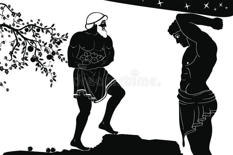 12 façanhas de Hercules ilustração do vetor