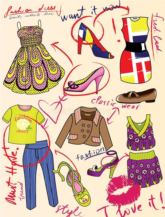 Façonnez l'histoire pour la revue de charme illustration stock