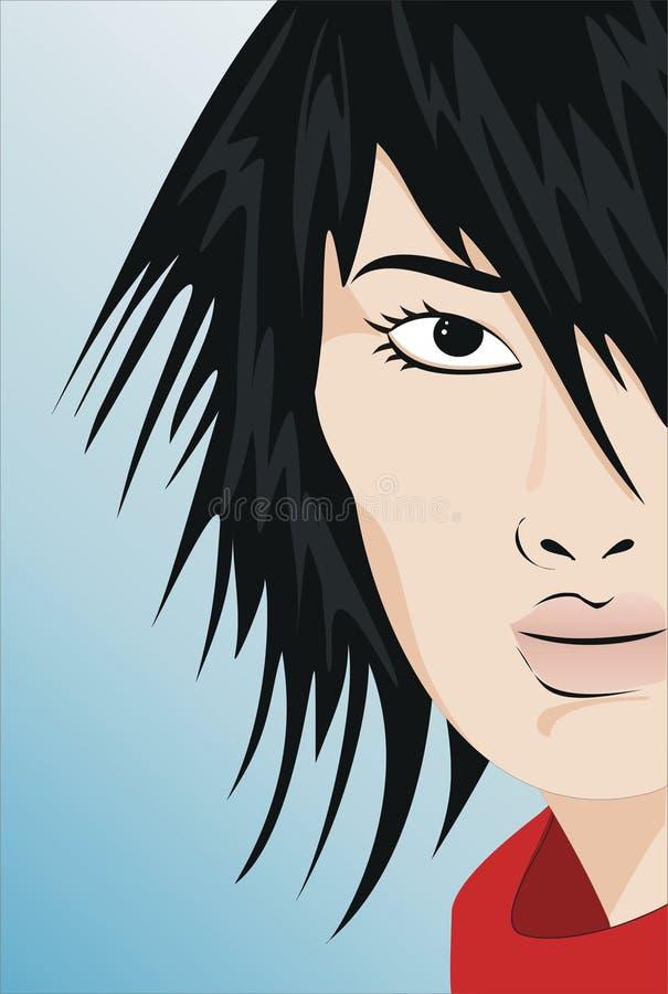 Download Façonnez le cheveu illustration de vecteur. Illustration du beauté - 59954