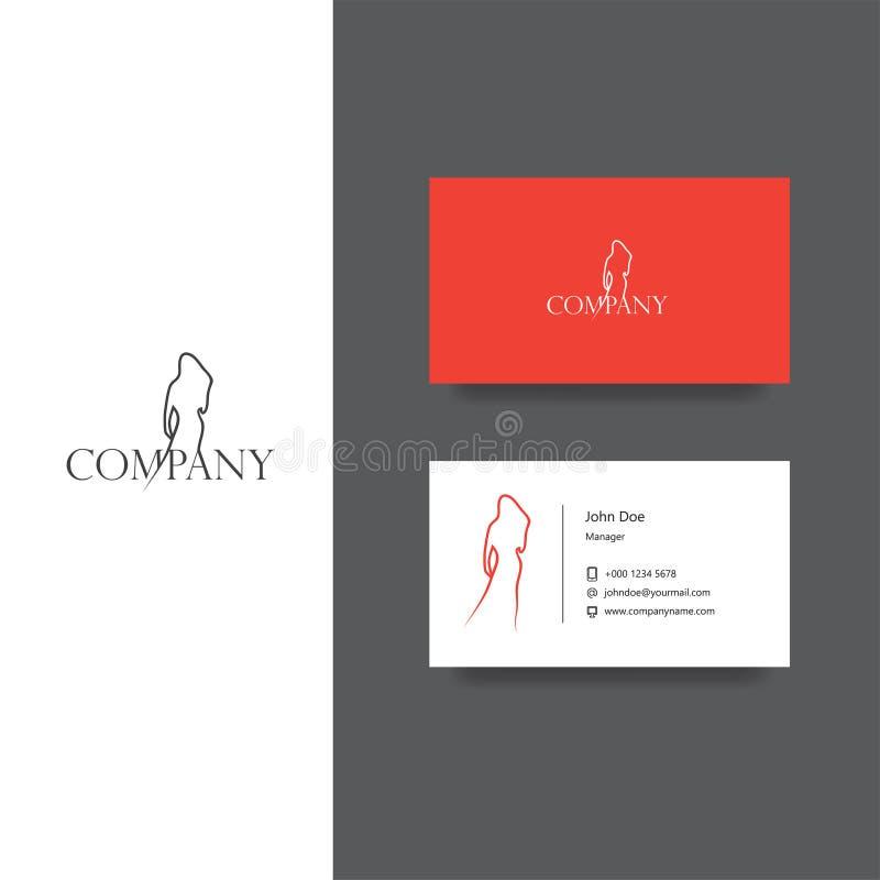 Façonnez le logo de société et le calibre orientés de carte de visite professionnelle de visite illustration de vecteur