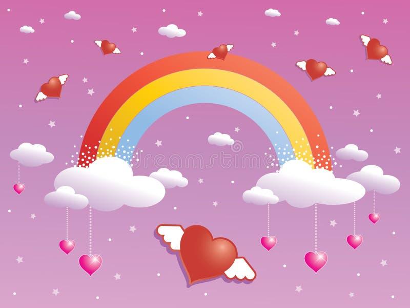Faísca do arco-íris ilustração royalty free