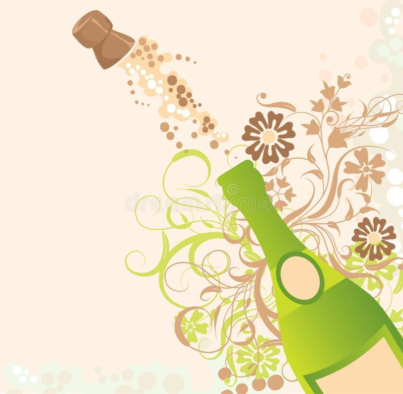 Faíscas de um champanhe, vetor ilustração royalty free