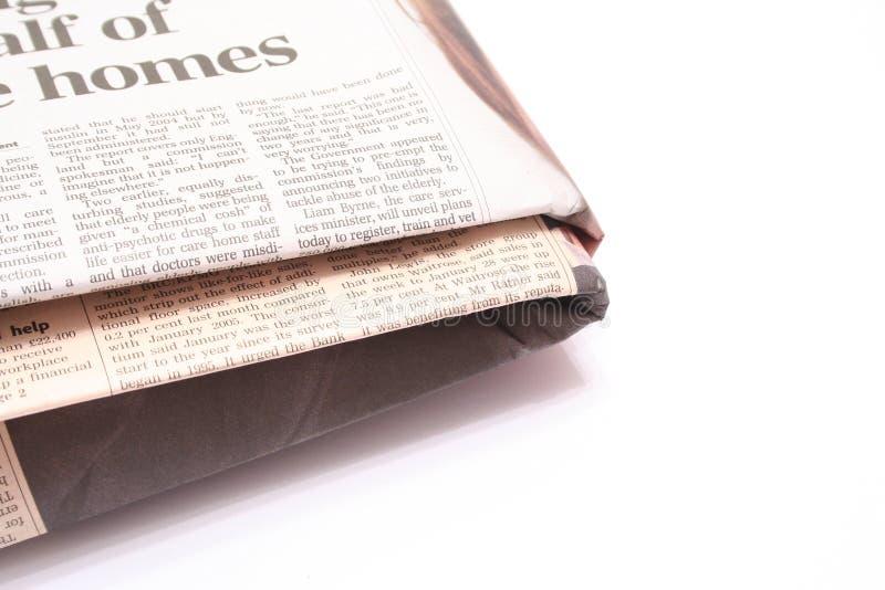 fałdowa gazety fotografia royalty free