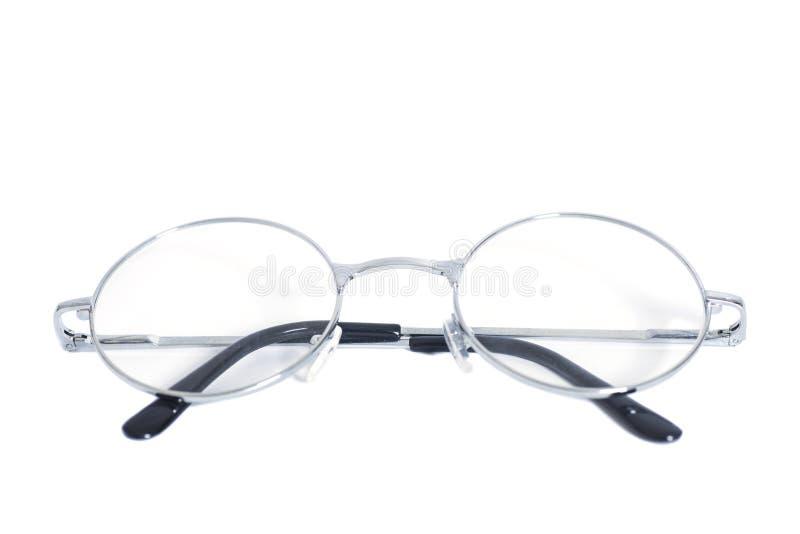 Fałdowi round eyeglasses odizolowywający na bielu fotografia royalty free