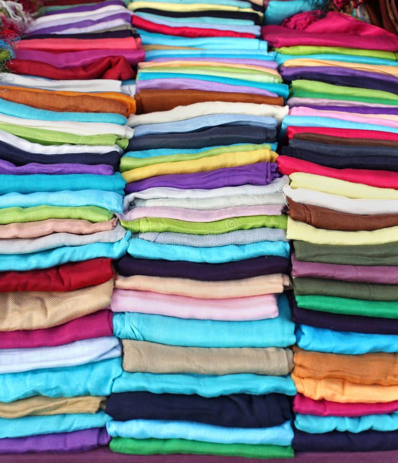 Fałdowi scarves obraz stock