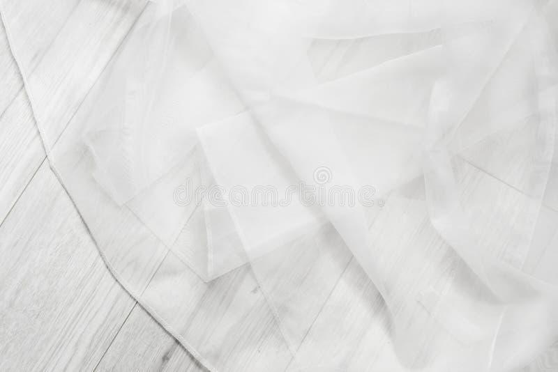 Fałdowy biały tiul zdjęcia stock