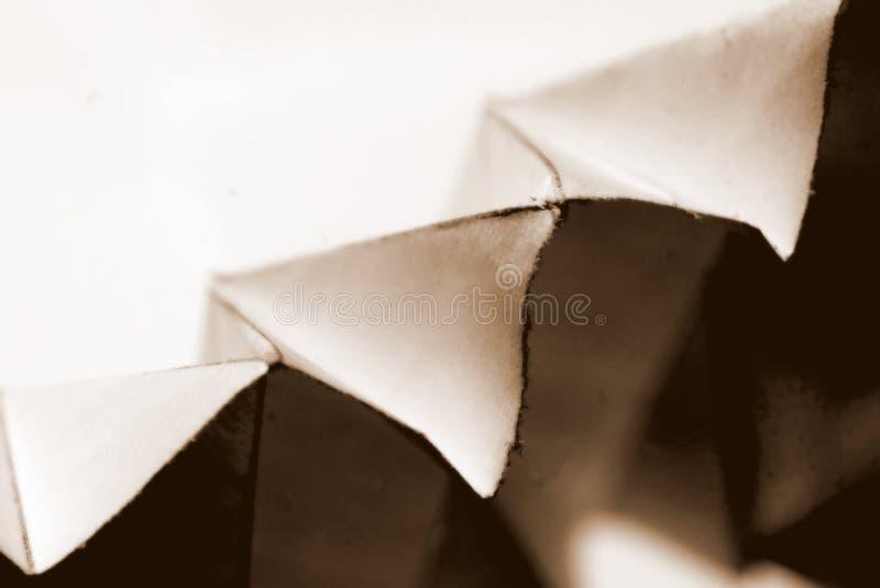 fałdowy papieru obrazy stock