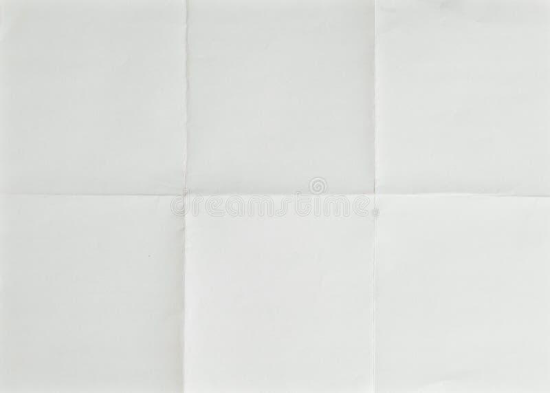 fałdowy papieru prześcieradła biel zdjęcie stock