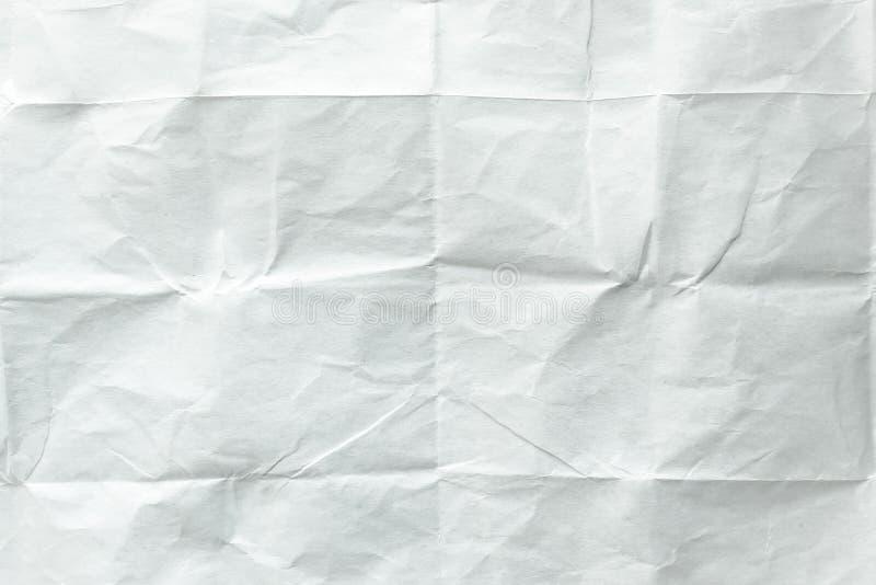 fałdowy papieru prześcieradła biel Zdruzgotany i fałdowy biały prześcieradło papier target43_1_ nutowy papierowej ścieżki cienia  zdjęcia stock