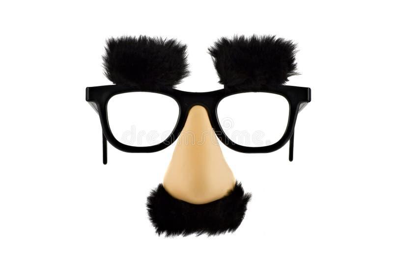 fałszywa zabawa lisolated maska white obraz stock