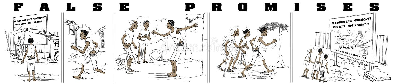 fałszywe obietnice ilustracja wektor