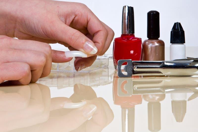 fałszywe paznokcie fotografia stock