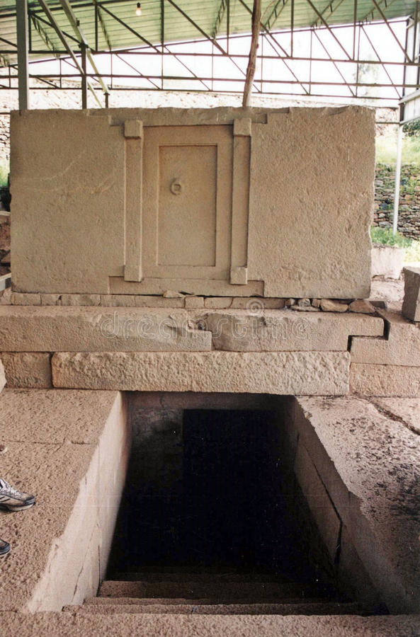 Fałszywy drzwiowy grobowiec fotografia royalty free