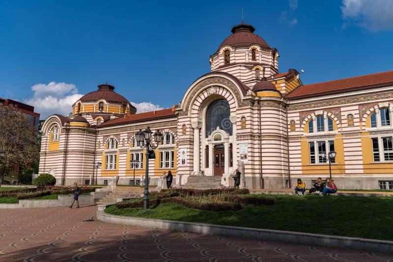 Fa?ade principale de Sofia History Museum Architecture Ce mus?e a consacr? ? l'histoire de Sofia est log? dans ancien magnifique photo libre de droits