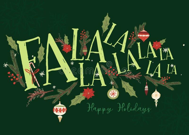 FA-de Kerstkaartmalplaatje van La van La royalty-vrije illustratie