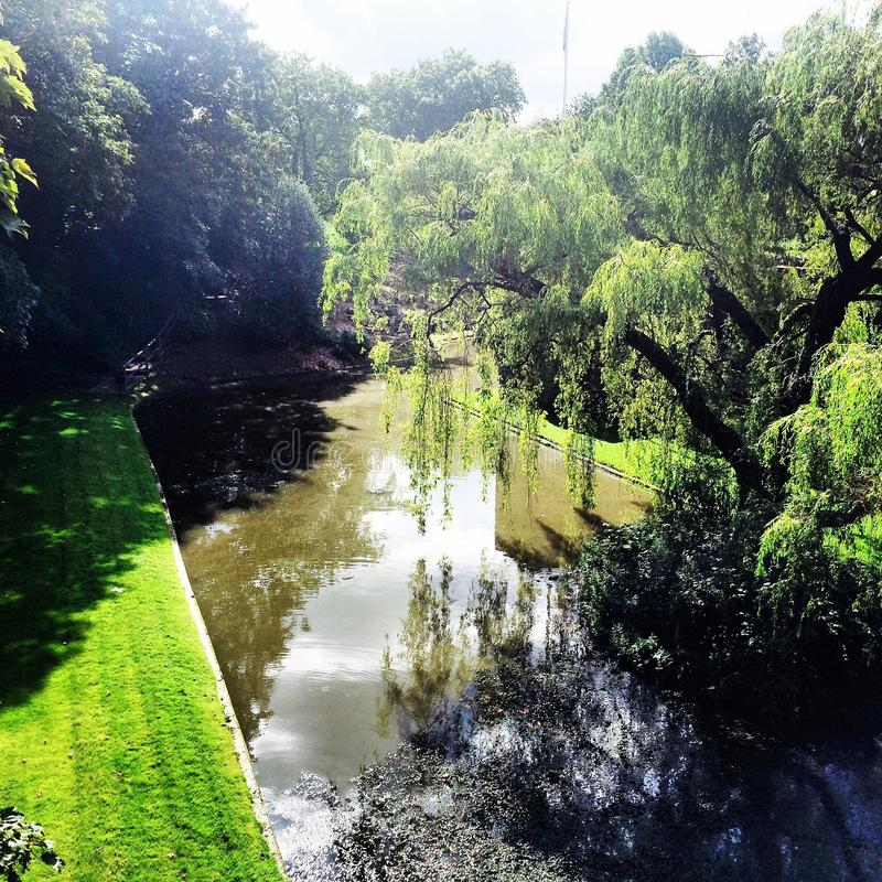 Fa il giardinaggio il palazzo del eltham del fossato fotografie stock libere da diritti