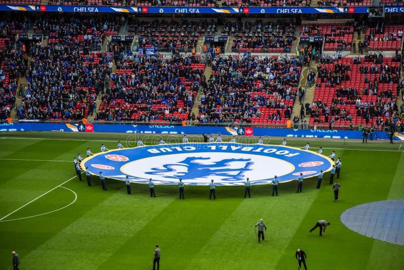 FA-KOPhalve finale Chelsea v Tottenham royalty-vrije stock afbeeldingen