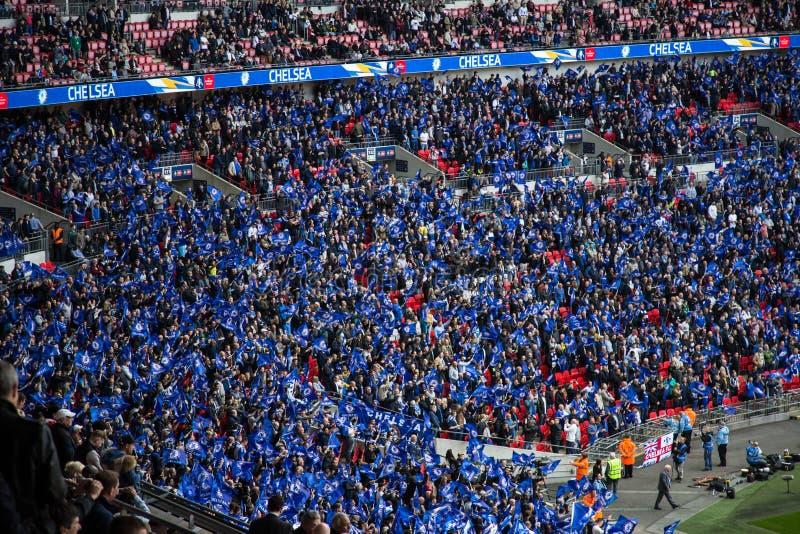 FA-KOPhalve finale Chelsea v Tottenham royalty-vrije stock afbeelding