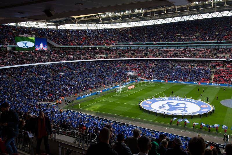 FA-KOPhalve finale Chelsea v Tottenham royalty-vrije stock foto