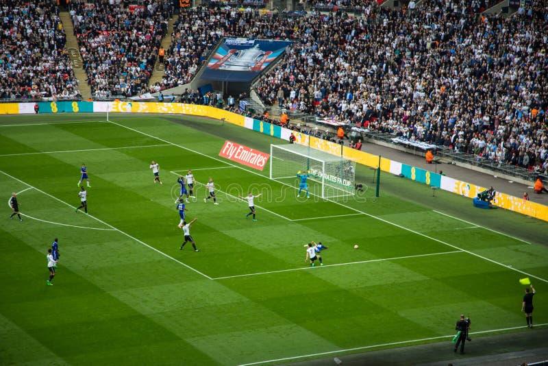 FA-KOPhalve finale Chelsea v Tottenham stock foto's