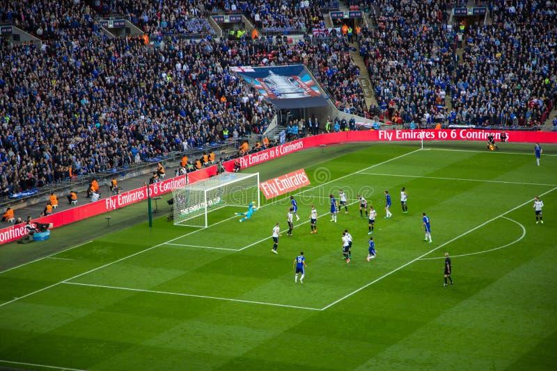 FA-KOPhalve finale Chelsea v Tottenham royalty-vrije stock fotografie