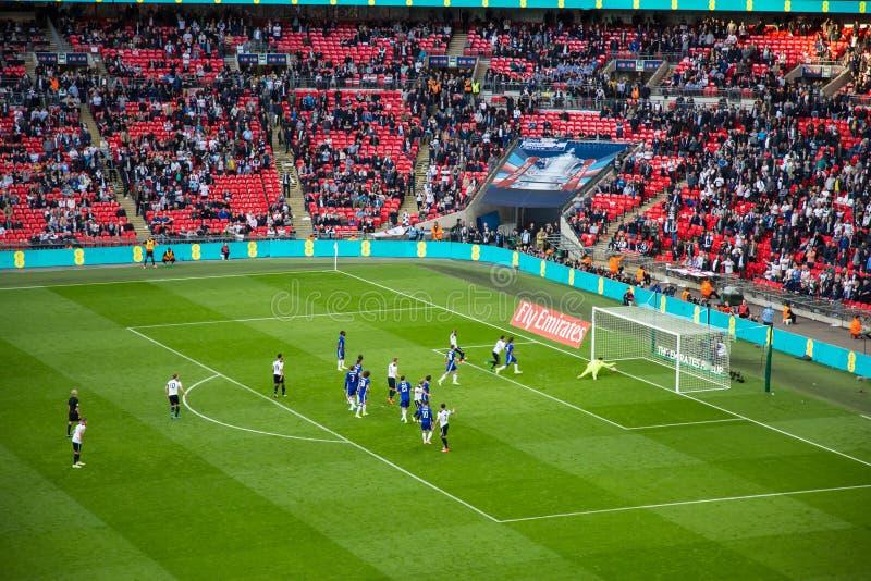 FA-KOPhalve finale Chelsea v Tottenham stock afbeelding