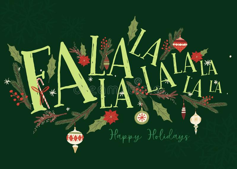 Fa losu angeles losu angeles kartki bożonarodzeniowej szablon royalty ilustracja