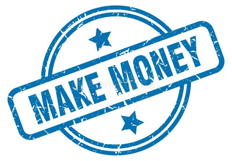 Fa?a o dinheiro carimbar ilustração do vetor
